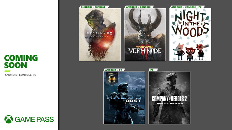 В Xbox Game Pass появятся Company of Heroes 2, Night in the Woods, Warhammer: Vermintide 2 и другие игры