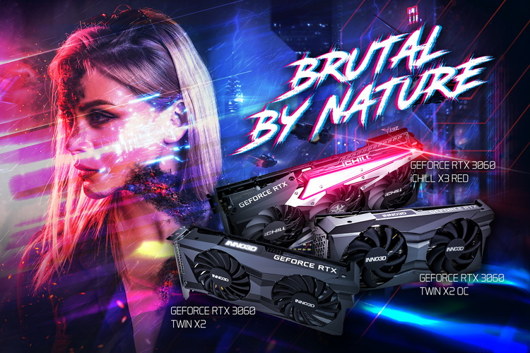 Inno3D представила свои варианты GeForce RTX 3060 с заводским разгоном