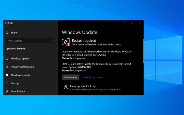 Microsoft начала принудительное удаление Flash Player из Windows 10