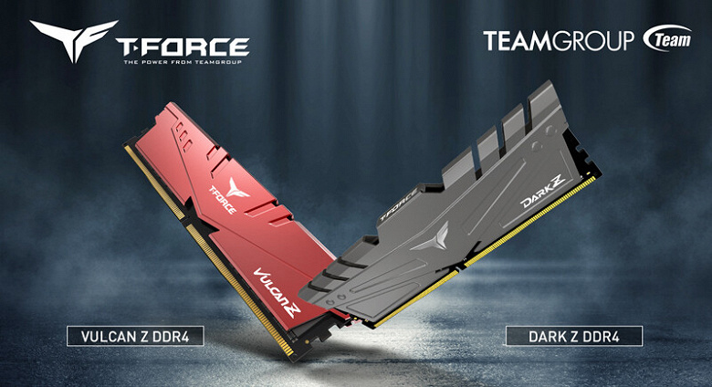 В линейки Team Group T-Force Vulcan Z и Dark Z вошли модули памяти DDR4 объемом 32 ГБ